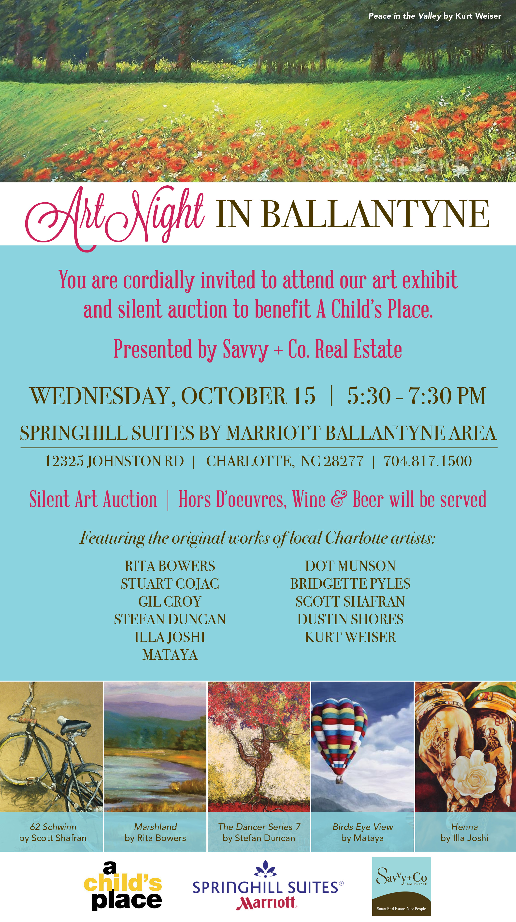 Ballantyne Charity Event - Art Night Benefitting A Child's Place